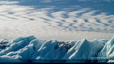 Photograph - Cloudy Ice by Michael Canning