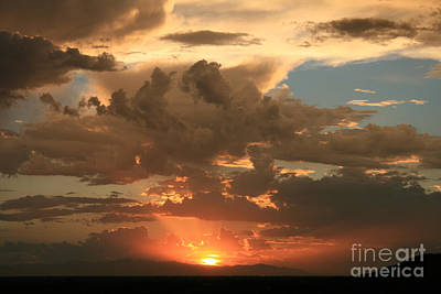 Cloudy Orange Sunset Art Print by Cassandra Lemon