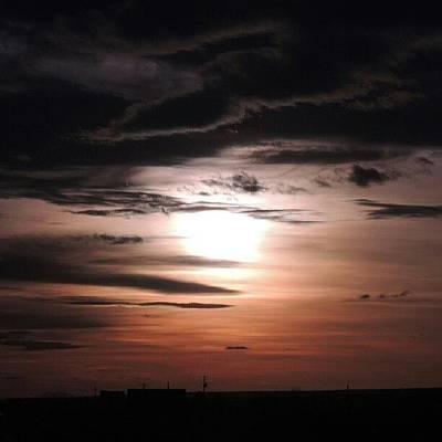 Sundown Wall Art - Photograph - Cloudy Sunset by Kelli Stowe
