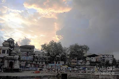 Photograph - Cloudy Village Scene In India by Sumit Mehndiratta