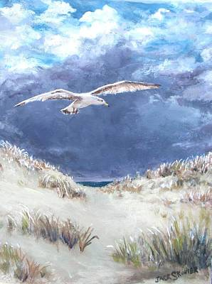 Cloudy With A Chance Of Seagulls Art Print by Jack Skinner