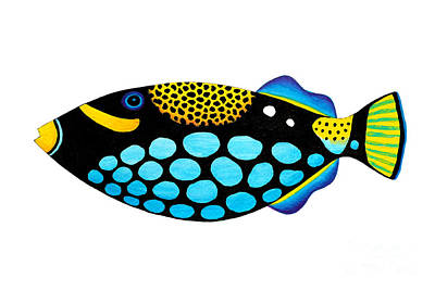 Clown Triggerfish  Art Print by Opas Chotiphantawanon