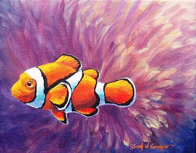 Painting - Clownfish by Sarah Grangier