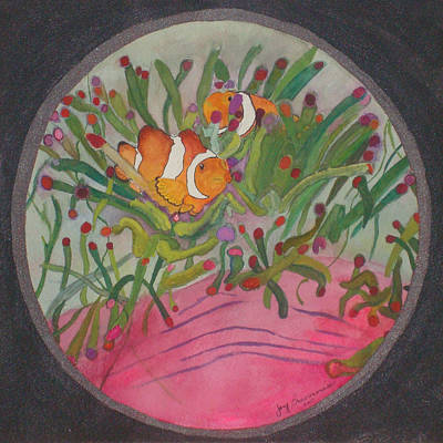 Mixed Media - Clownfish Seen Through A Lense by Joy Braverman