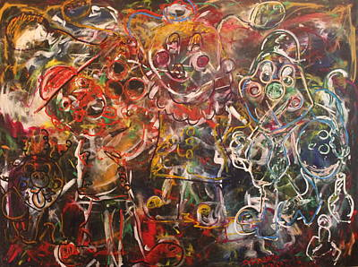 Painting - Clowning Around by Shadrach Ensor