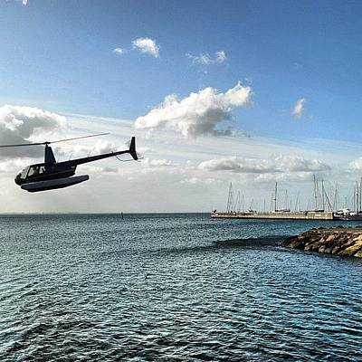 Helicopter Photograph - #clubsocial #bestagram #victoria by Robert Puttman