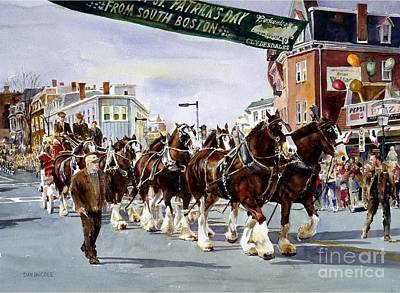 Patrick Painting - Clydesdales On Parade by Dan McCole