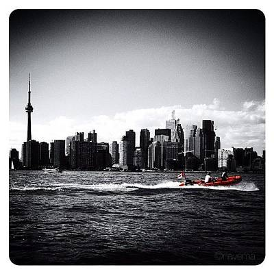 Skylines Wall Art - Photograph - Cn Tower Series: A Touch Of Color by Natasha Marco
