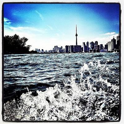 Skylines Photograph - Cn Tower Series: Lake Splash by Natasha Marco