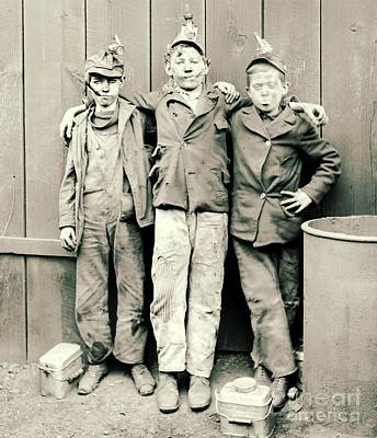 Coal Breaker Boys 1900 Art Print by Padre Art
