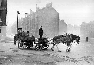 Coalman And Cart Art Print by Albert McCabe