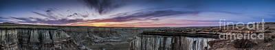 Coalmine Canyon Panoramic Sunset Art Print by Darcy Michaelchuk