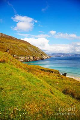 Coast At Keem Bay On Achill Island Art Print by Gabriela Insuratelu