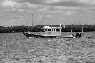 Photograph - Coast Guard Boat Off Ft Myers by Florene Welebny
