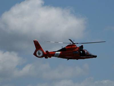 Coast Guard Rescue By Air Art Print by Kathy Long