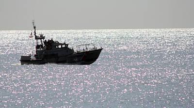 Photograph - Coast Guard Silohette by Mary Haber