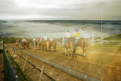 Horse Racing Digital Art - Coast Line by Betsy Knapp