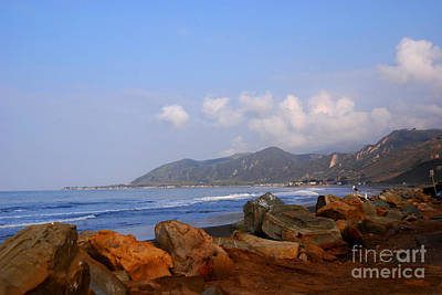 Coast Line California Art Print by Susanne Van Hulst