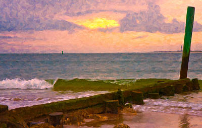 Shore Digital Art - Coastal Climate by Betsy Knapp