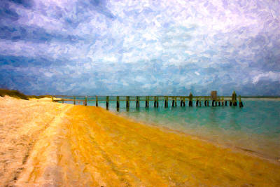 Lazy Digital Art - Coastal Dreamland by Betsy Knapp