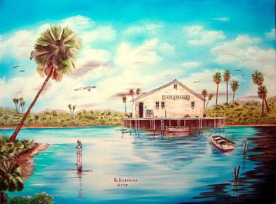 Painting - Coastal Glades by Riley Geddings