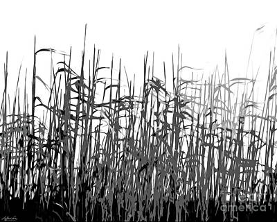Digital Art - Coastal Grasses by Lizi Beard-Ward