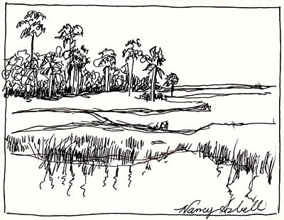 Coastal Marsh Art Print by Michele Hollister - for Nancy Asbell