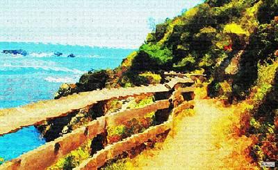 Digital Art - Coastal Path by Paula Greenlee