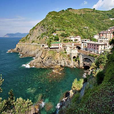 Coastal Railway Tunnel In Italian Village Art Print by Wx Photography