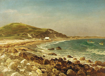 Rocky Painting - Coastal Scene by Albert Bierstadt