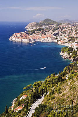 Coastal View Of The Old Town Of Dubrovnik Art Print by Jeremy Woodhouse
