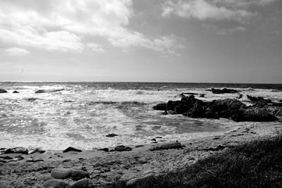 Photograph - Coastal View V - Bw by Kathleen Grace