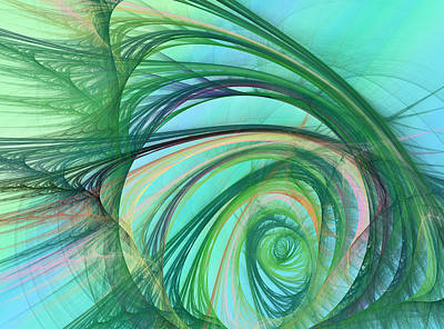 Thoughts Digital Art - Coastal Wave by Betsy Knapp