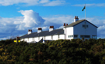 Coastguard Cottages Dunwich Heath Suffolk Print by Darren Burroughs