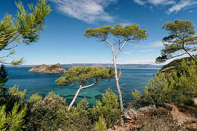 Coastline Of Port-cros Island , France Art Print by Patrice Hauser