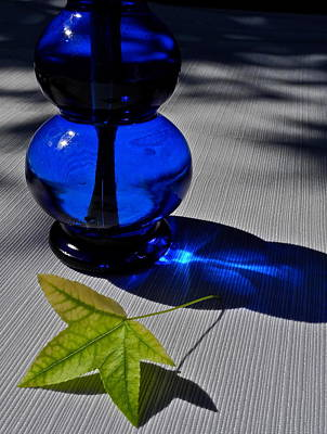 Photograph - Cobalt Blue Depression Glass Vase by Kirsten Giving