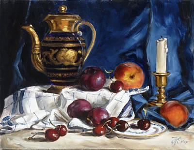 Still Life Painting - Cobalt Blue by Irek Szelag