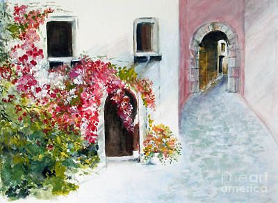 Painting - Cobbled Street by Sibby S