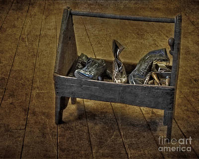 Shoe Repair Photograph - Cobblers Shoe Box by Susan Candelario