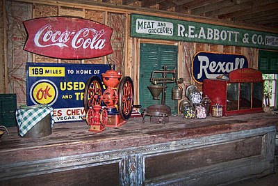 Hard Candies Digital Art - Coca Cola - Rexall - Ok Used Tires Signs And Other Antiques by Kathy Clark