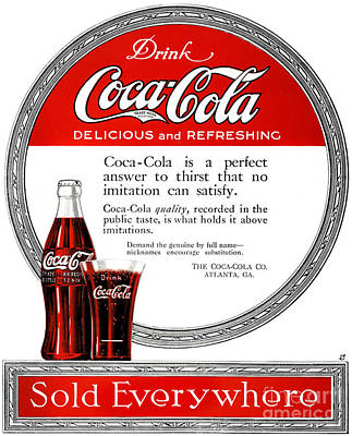 Photograph - Coca-cola Ad, 1919 by Granger