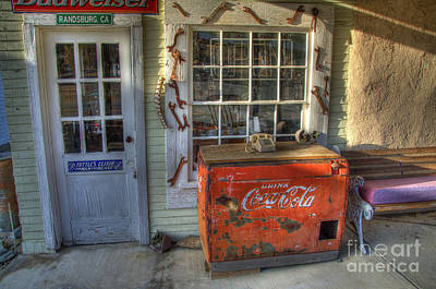 Coca Cola Cooler Randsburg Art Print by Bob Christopher