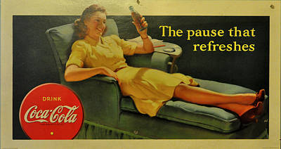 Old Coke Sign Wall Art - Photograph - Coca Cola by Todd Hostetter