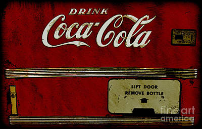 Door Locks And Handles - Coca Cola Vending Machine by Anne Kitzman