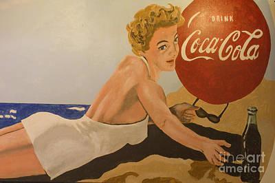 Coca Cola  Vintage Sign Art Print by Bob Christopher