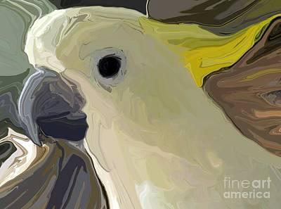 Yellow Beak Mixed Media - Cockatoo Two by Chris Butler