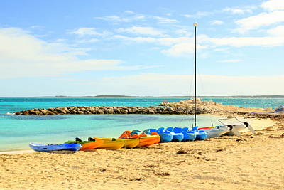 Photograph - Coco Cay Kayaks by RobLew Photography