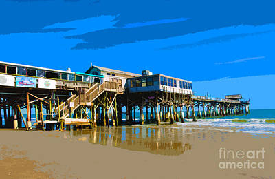 Swim Party Painting - Cocoa Beach Pier  by Allan  Hughes