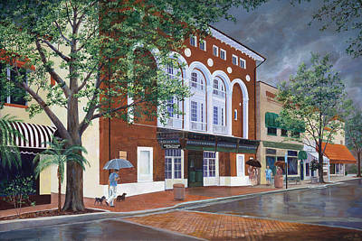 Art Print featuring the painting Cocoa Village Playhouse by AnnaJo Vahle