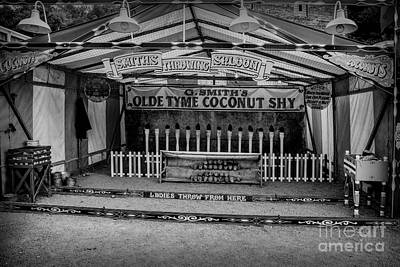 Funfair Photograph - Coconut Shy 2 by Adrian Evans